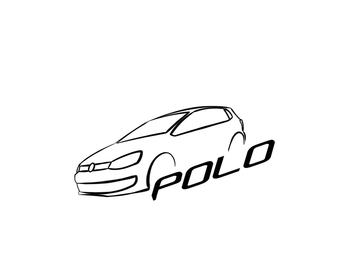 VW Polo Stylized Logo by Ionut Octavian Dima at Coroflot.com