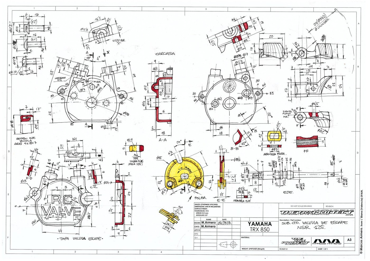 TRX 850 and NSR 125 Sketches. by Marcos Armero at Coroflot.com