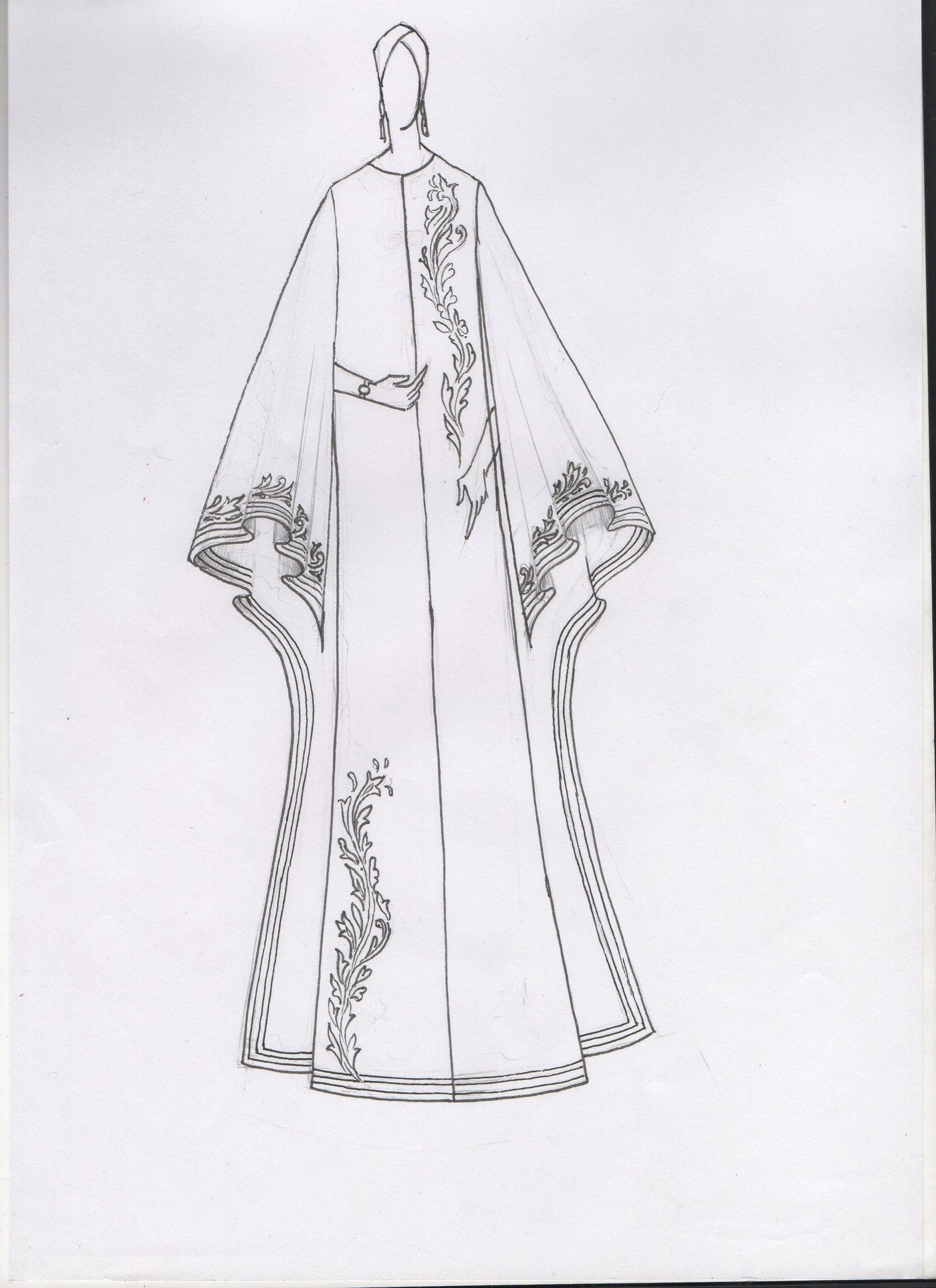 Abaya Designs  Sketches by shashi kumar at Coroflotcom