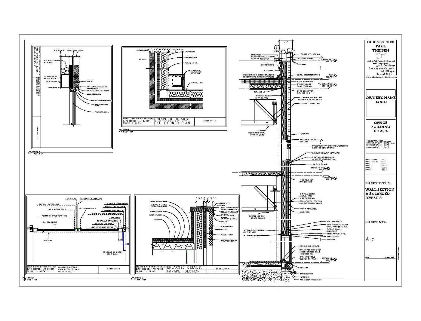 Construction Documents by Christopher Theisen at Coroflot.com