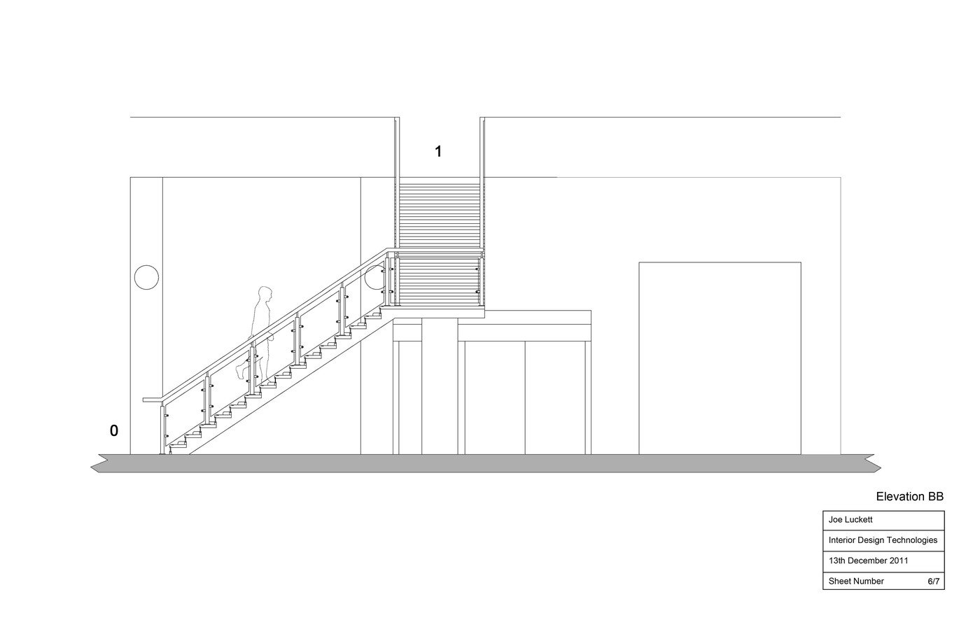 Staircase Working Drawings by Joe Luckett at Coroflot.com