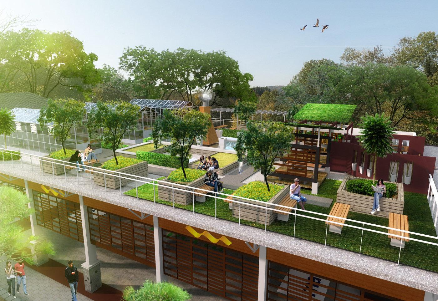 UNPAD Sport Center  Roof Garden by Rheza Nugraha at
