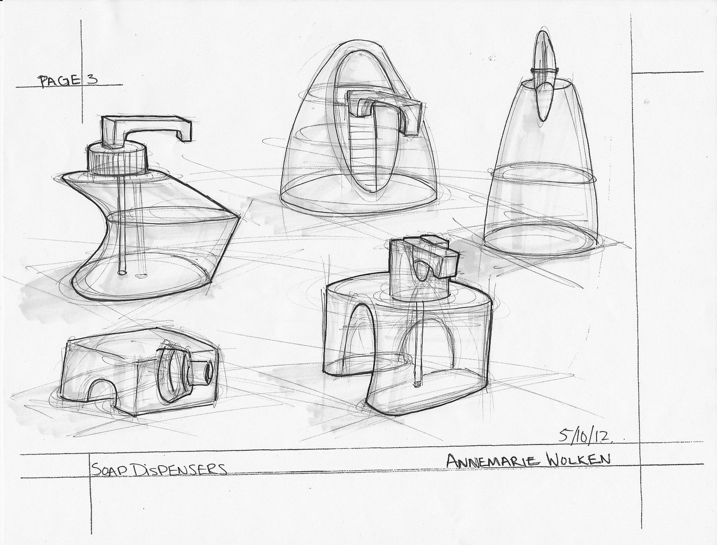 Sketch Dump: Soap Dispensers by Annemarie Wolken at
