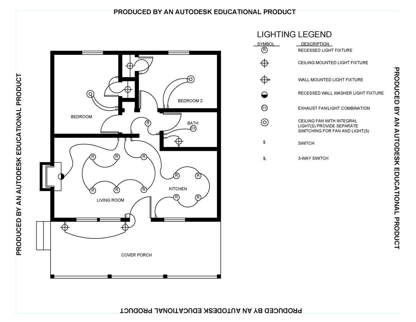 CAD Lighting Plan by Dashawn Wilson at Coroflot.com