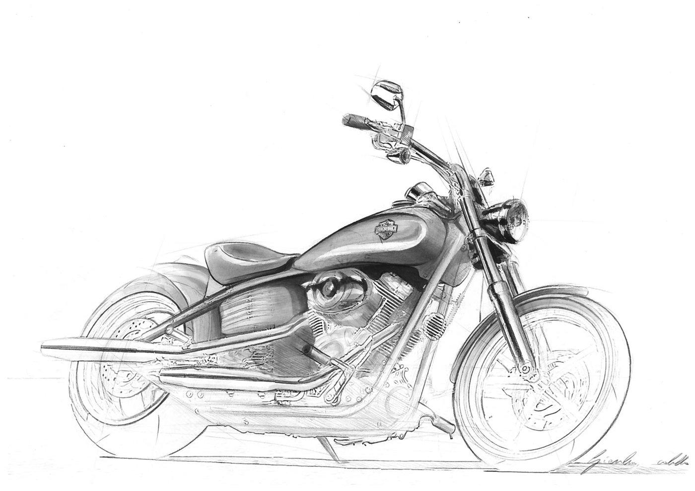 Moto sketch by GIANLUIGI CICOLELLA at Coroflot.com