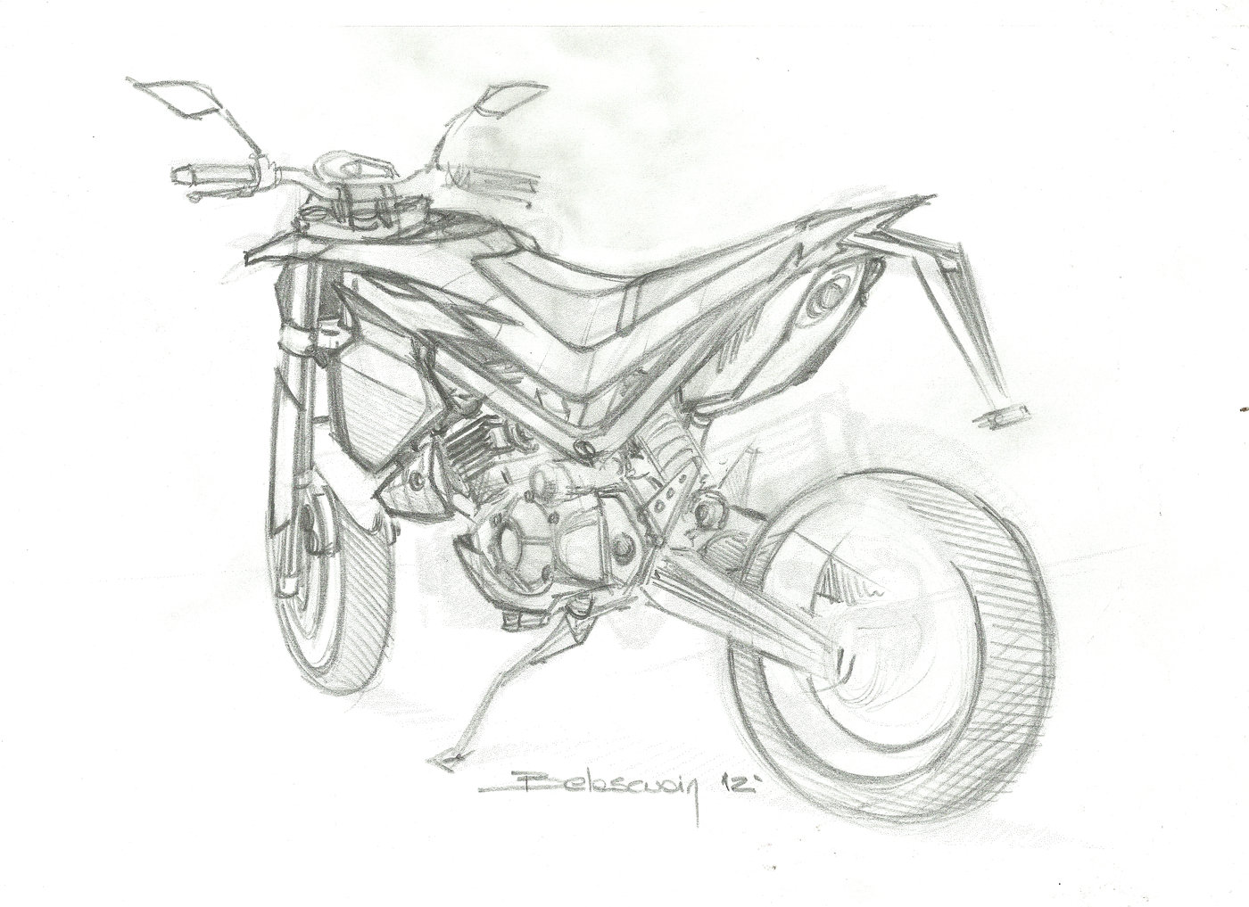 Husqvarna Supermotard by Miguel Belascuain at Coroflot.com