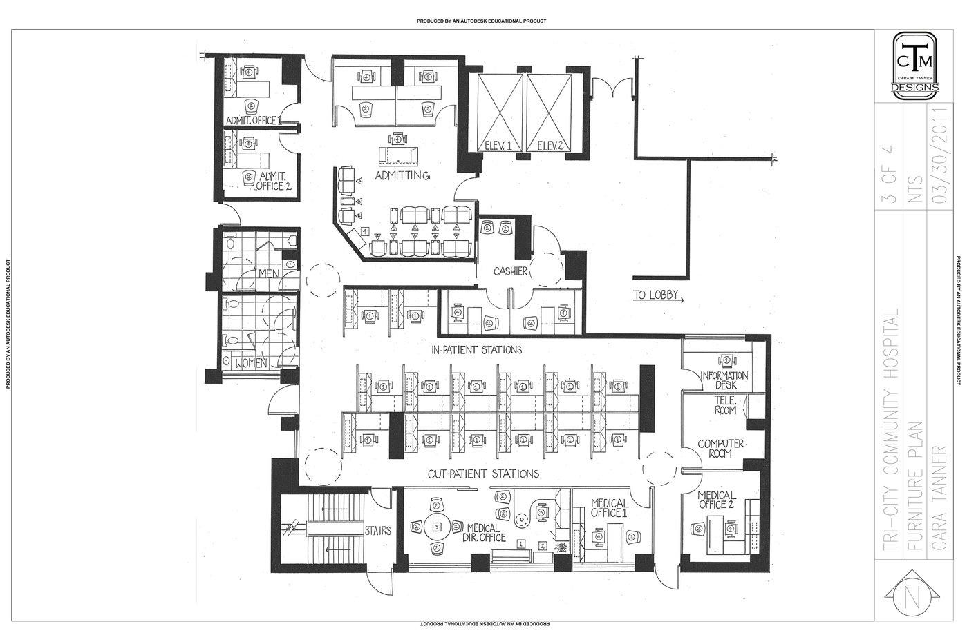 hight resolution of hospital floor diagram