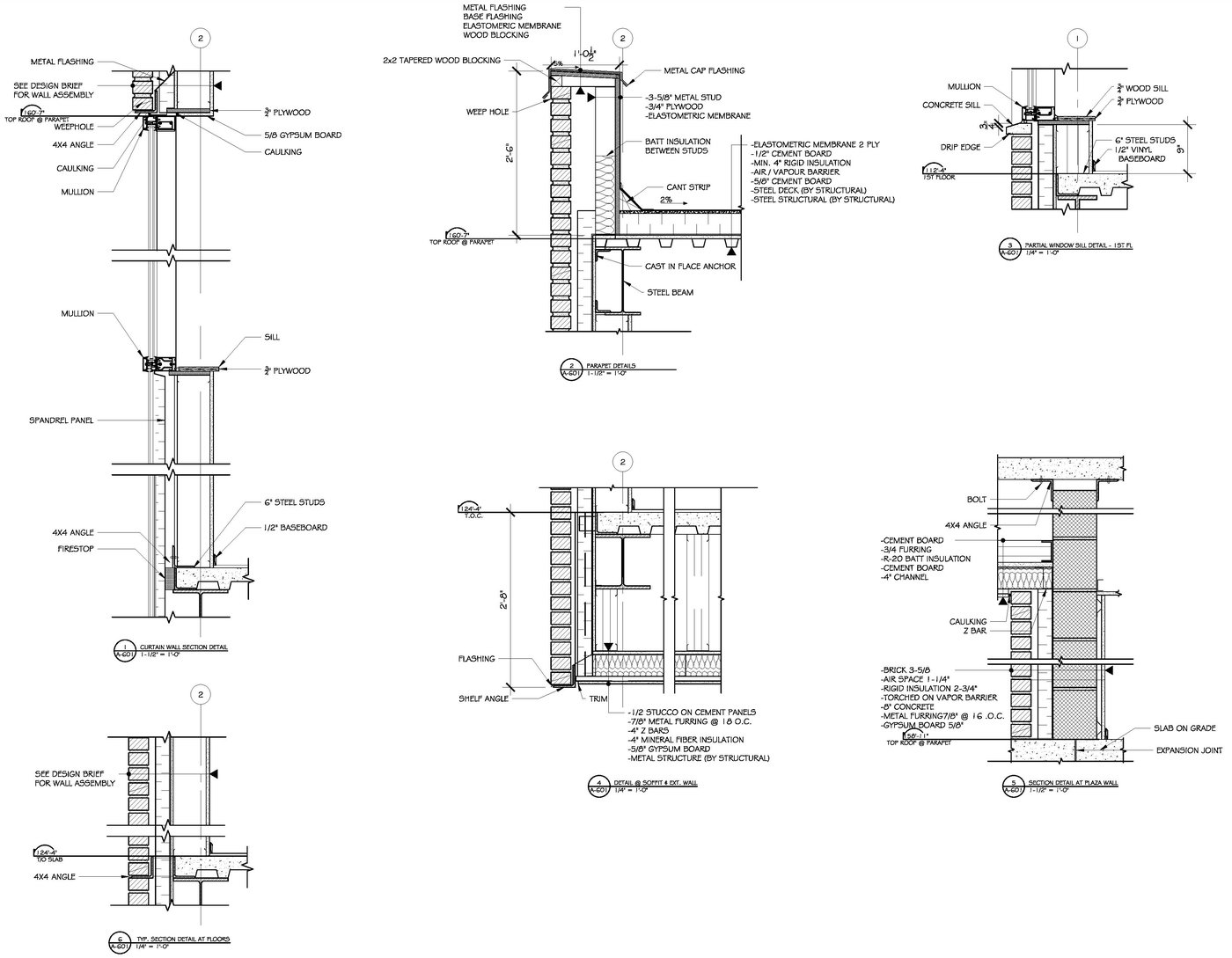 Wall Sections & Detail Drawings by Raymond Alberga at