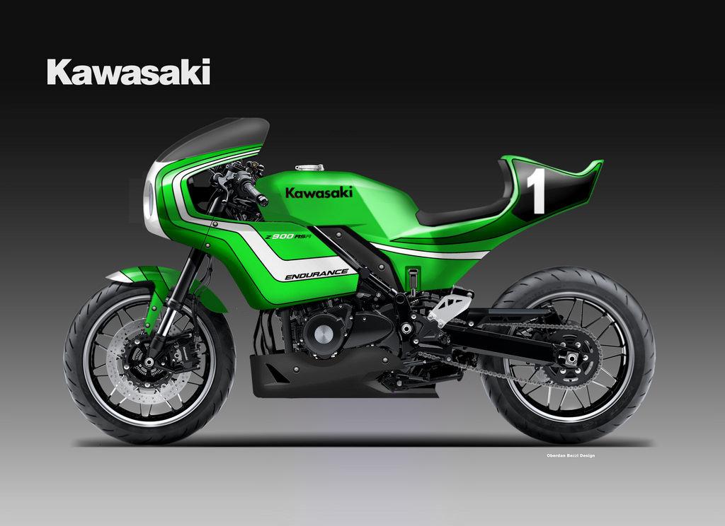 KAWASAKI Z 900 RSR ENDURANCE CONCEPT by Oberdan Bezzi at