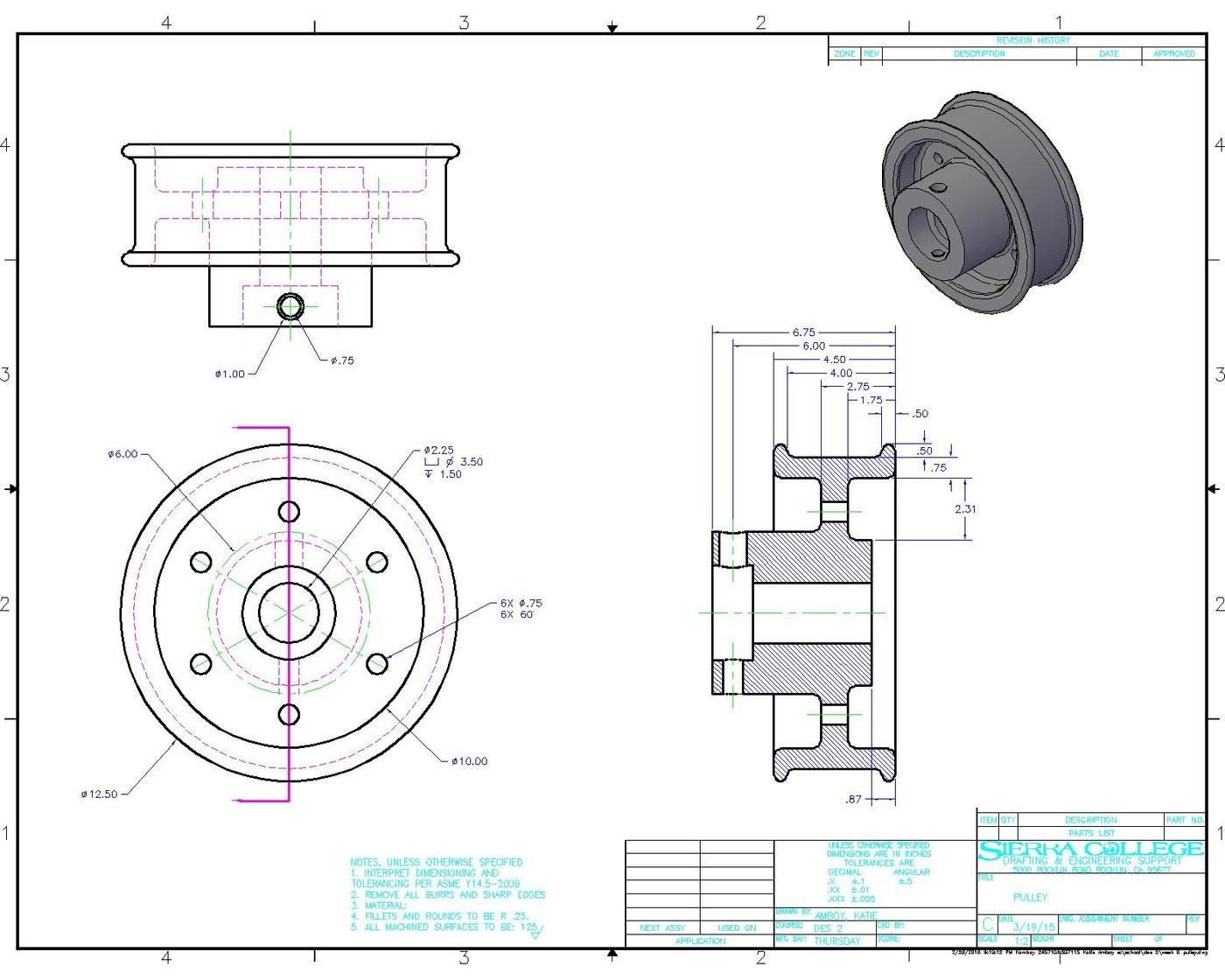 AutoCAD Dimensioned Drawings by Katherine Amboy at