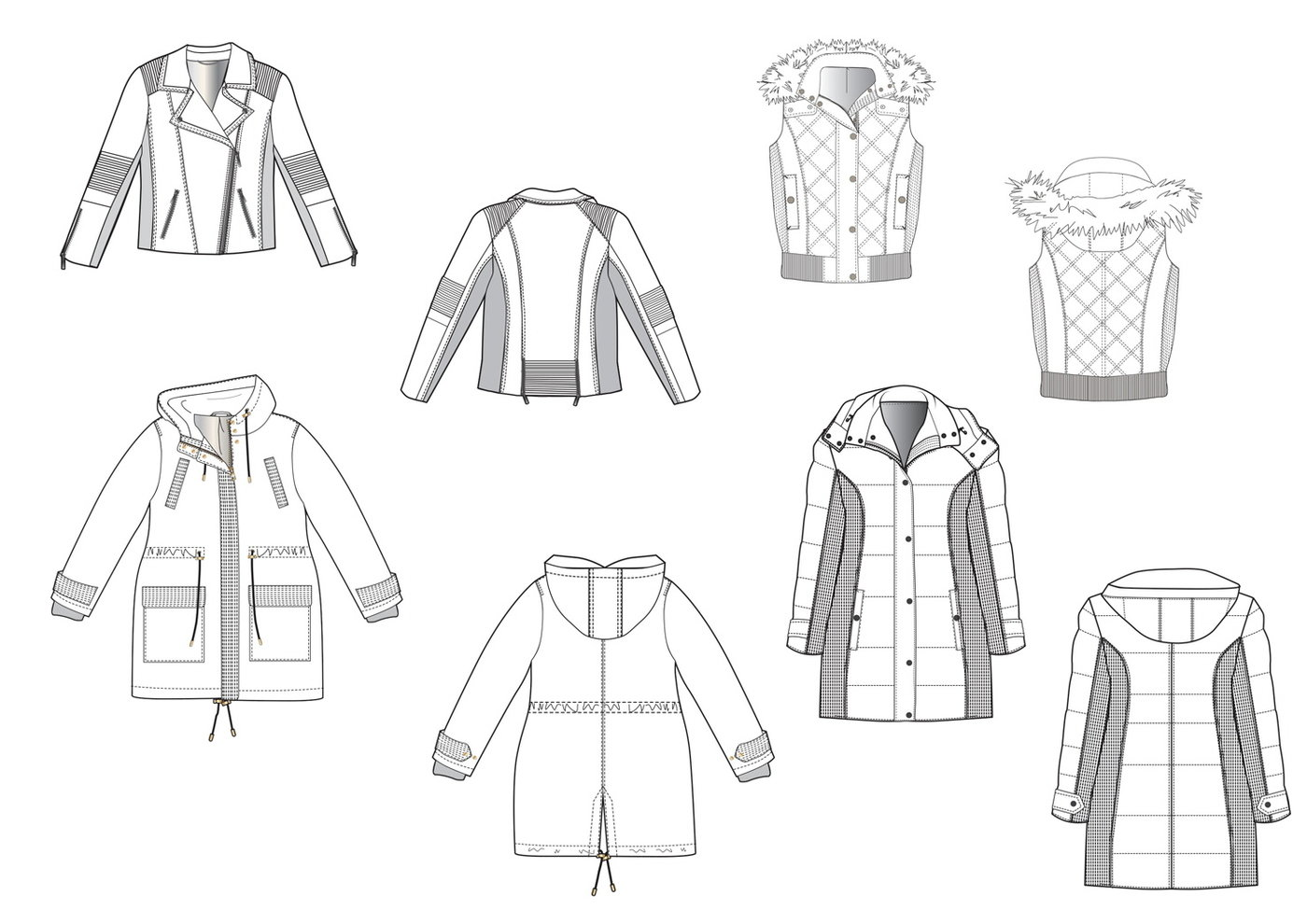 Garment Sketches Knitwear & Outerwear by Manda Epton at