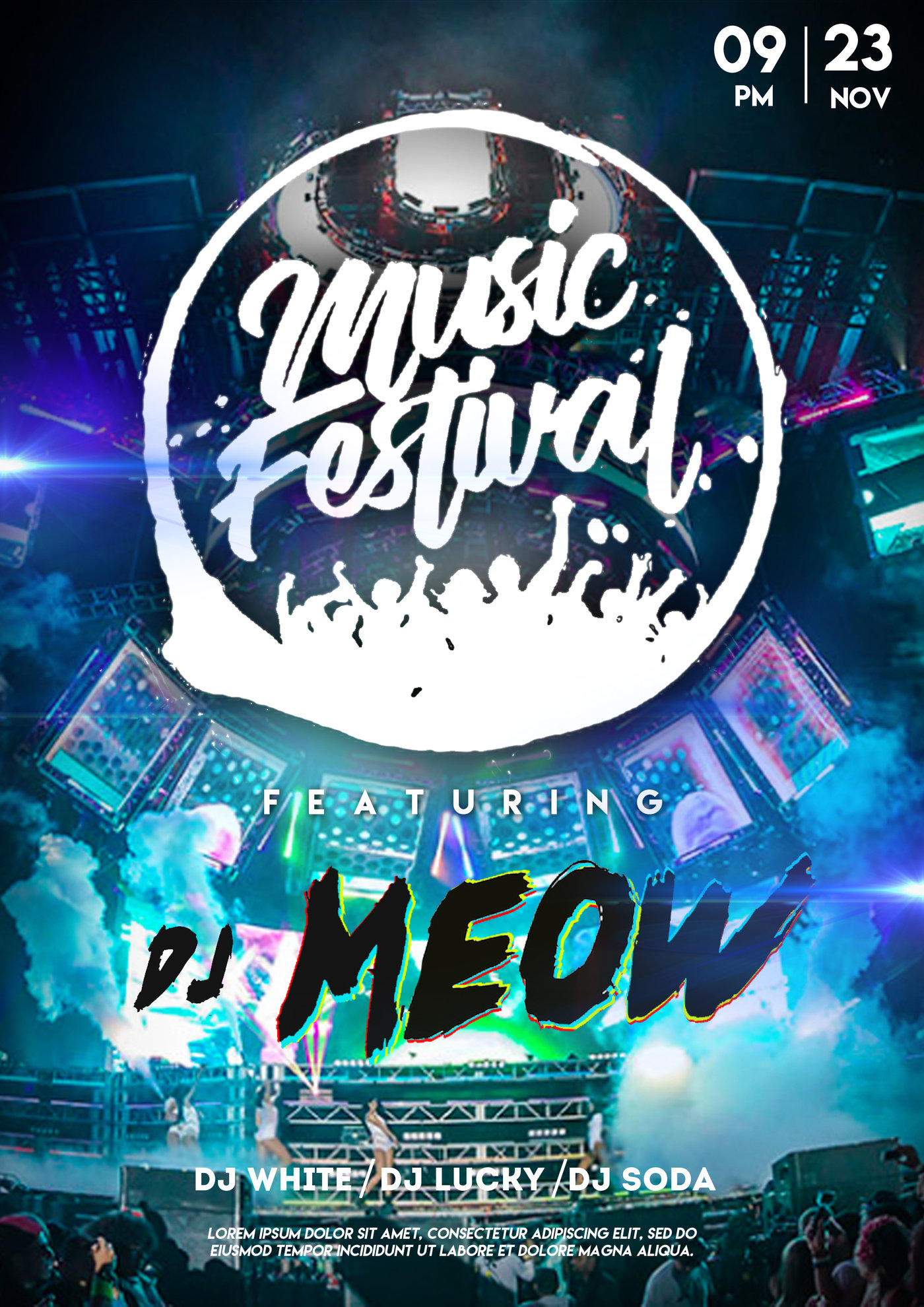 This mockup is high in resolution and photo. Music Festival Mockup Design By Elliot Kirk At Coroflot Com