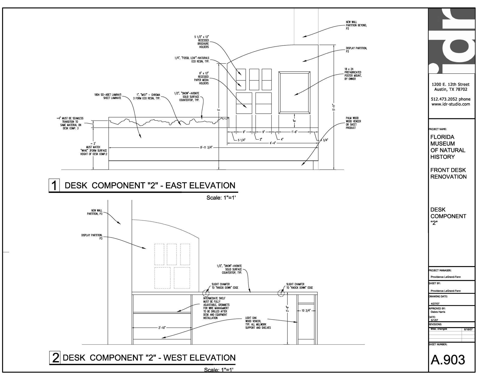 hight resolution of reception desk construction drawing