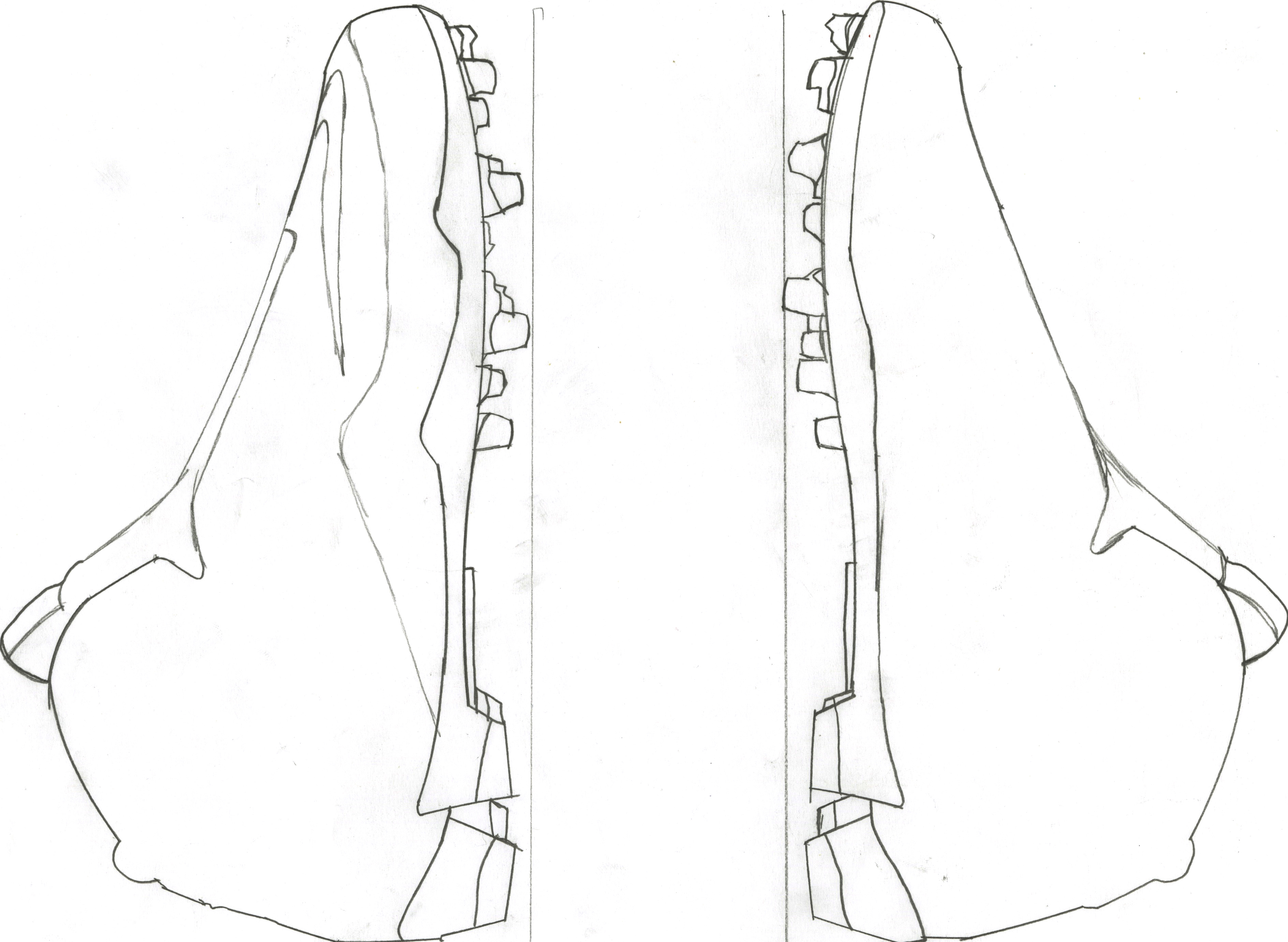 Football Cleat Outline Sketch Coloring Page