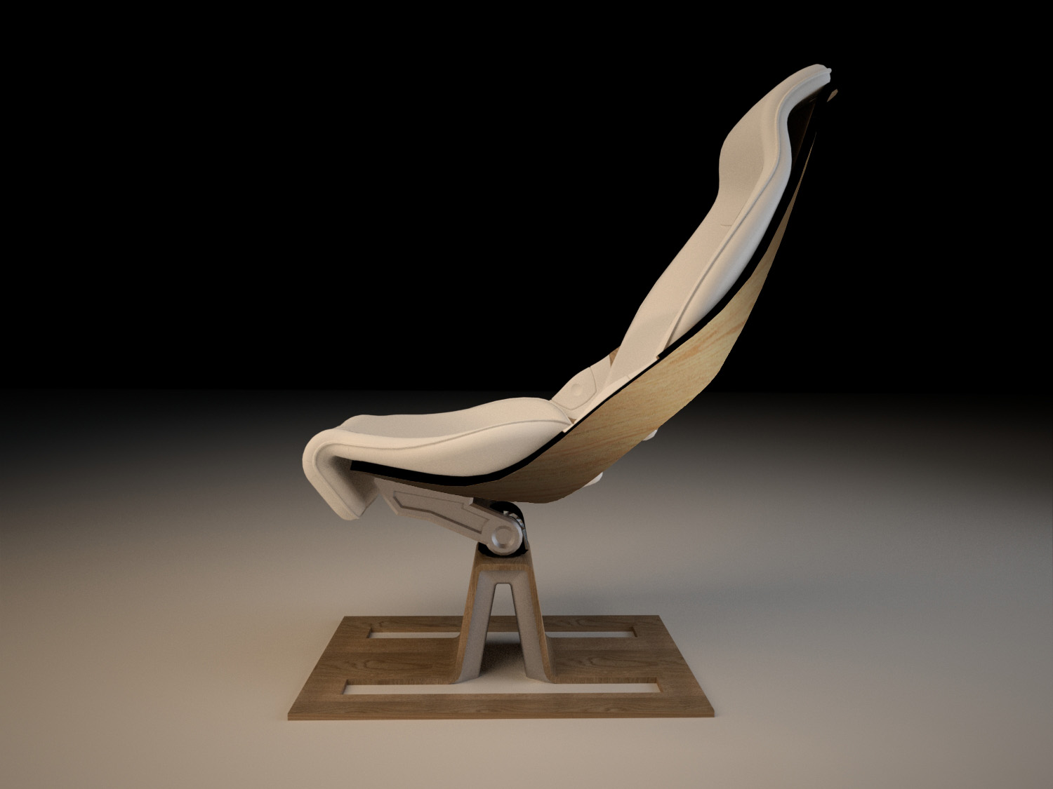 Stand alone airplane chair by Adriaan Van Eyndhoven at