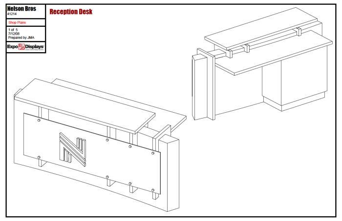 Wood Work Reception Desk Construction Plans PDF Plans