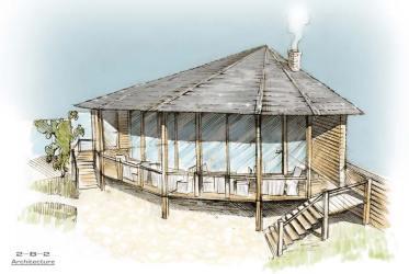 sketches restaurant exterior digital coroflot architecture light