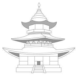 drawing pagoda drawings china illustrator para coroflot ninos paintingvalley pag