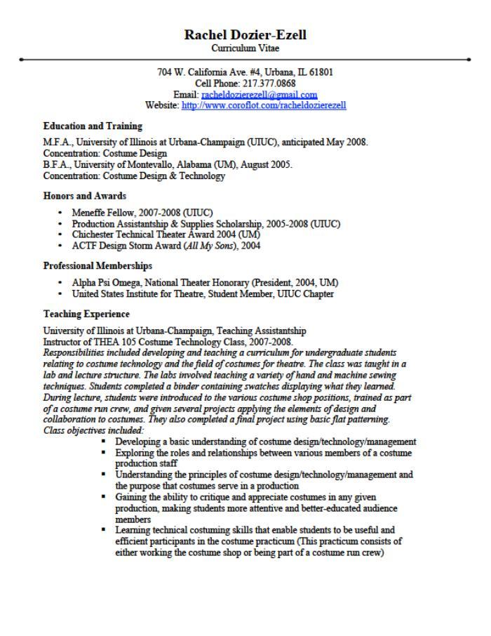ResumeCVTeaching PhilosophyArtist statement by Rachel DozierEzell at Coroflotcom