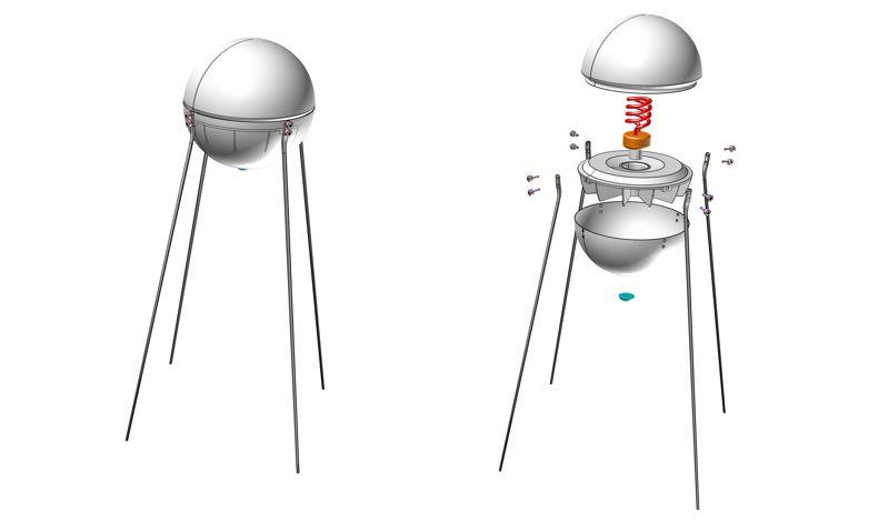 Sputnik Lamp by Petr Nestratov at Coroflot.com