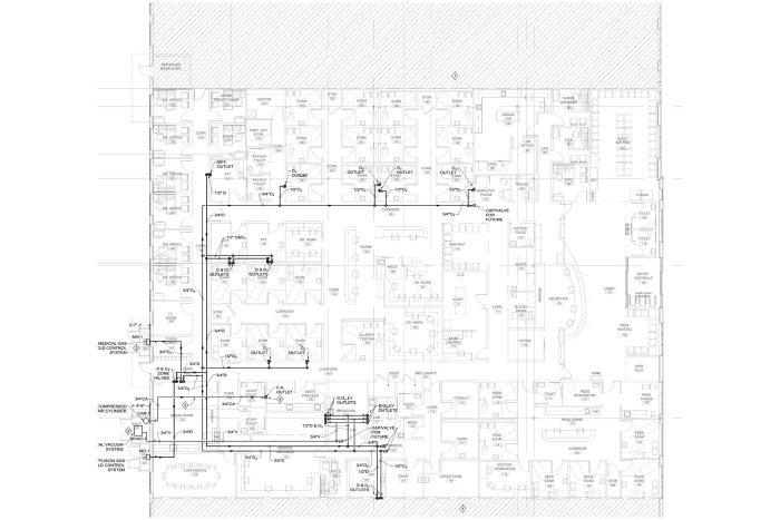 Plumbing & Med Gas CAD For Clinic by Daniel German at