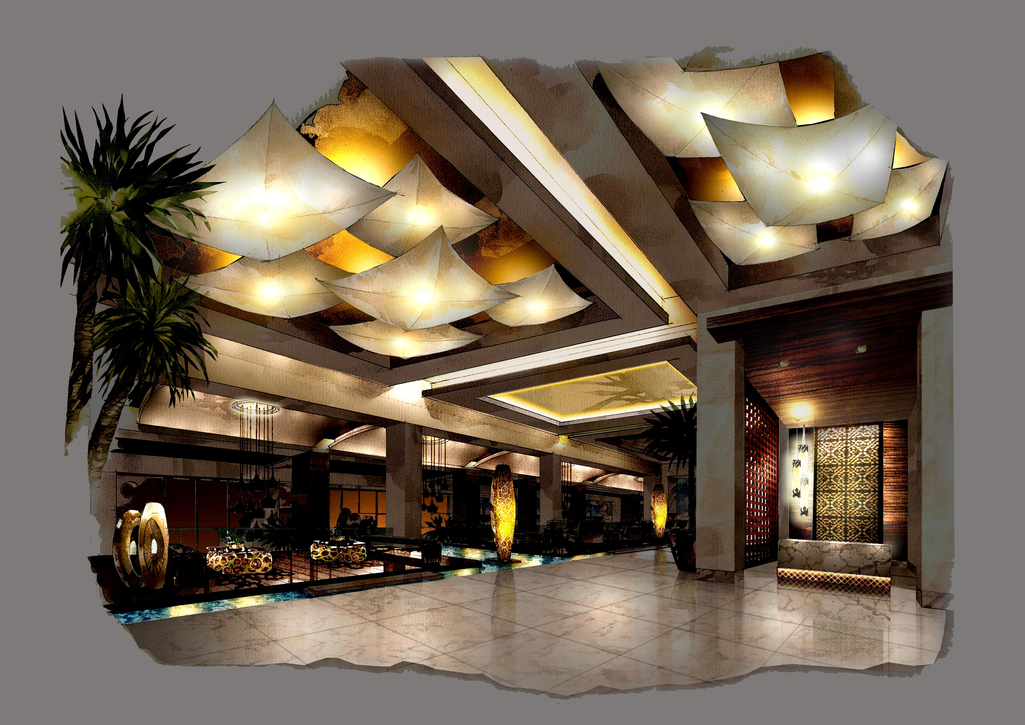Hospitality Interior Lighting by Siddharth Mathur at