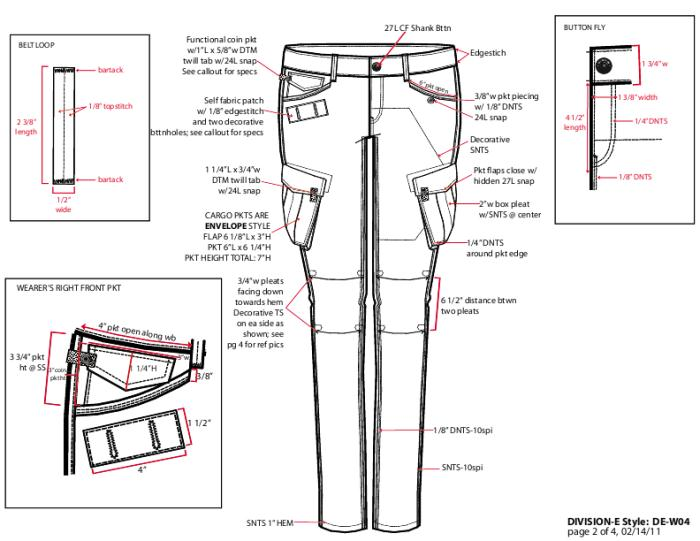 Womens Cargo Pants Tech Pack by Kali Jervis at Coroflot.com