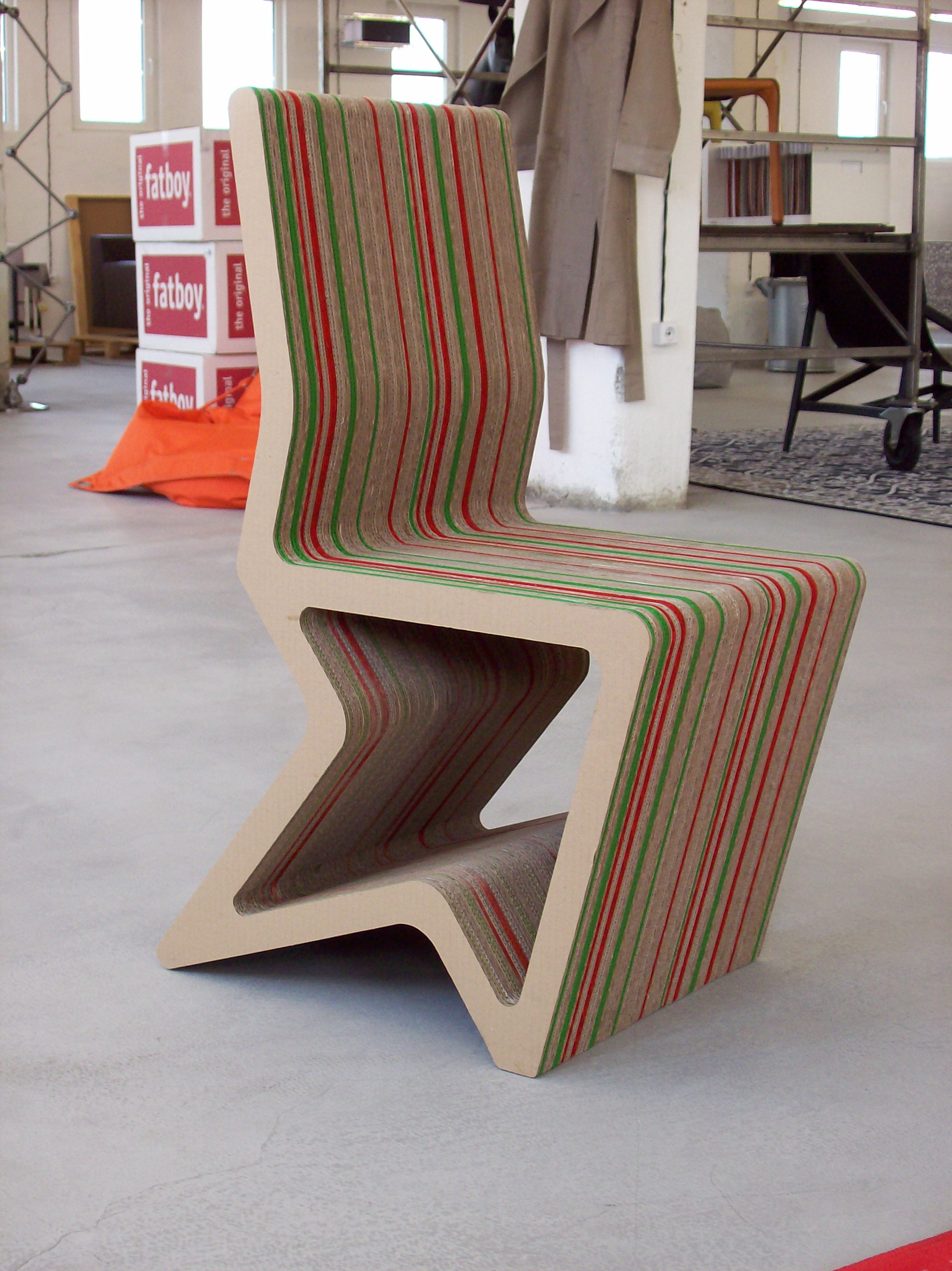 design chair for you folding office cardboard furniture by konstantin achkov at coroflot