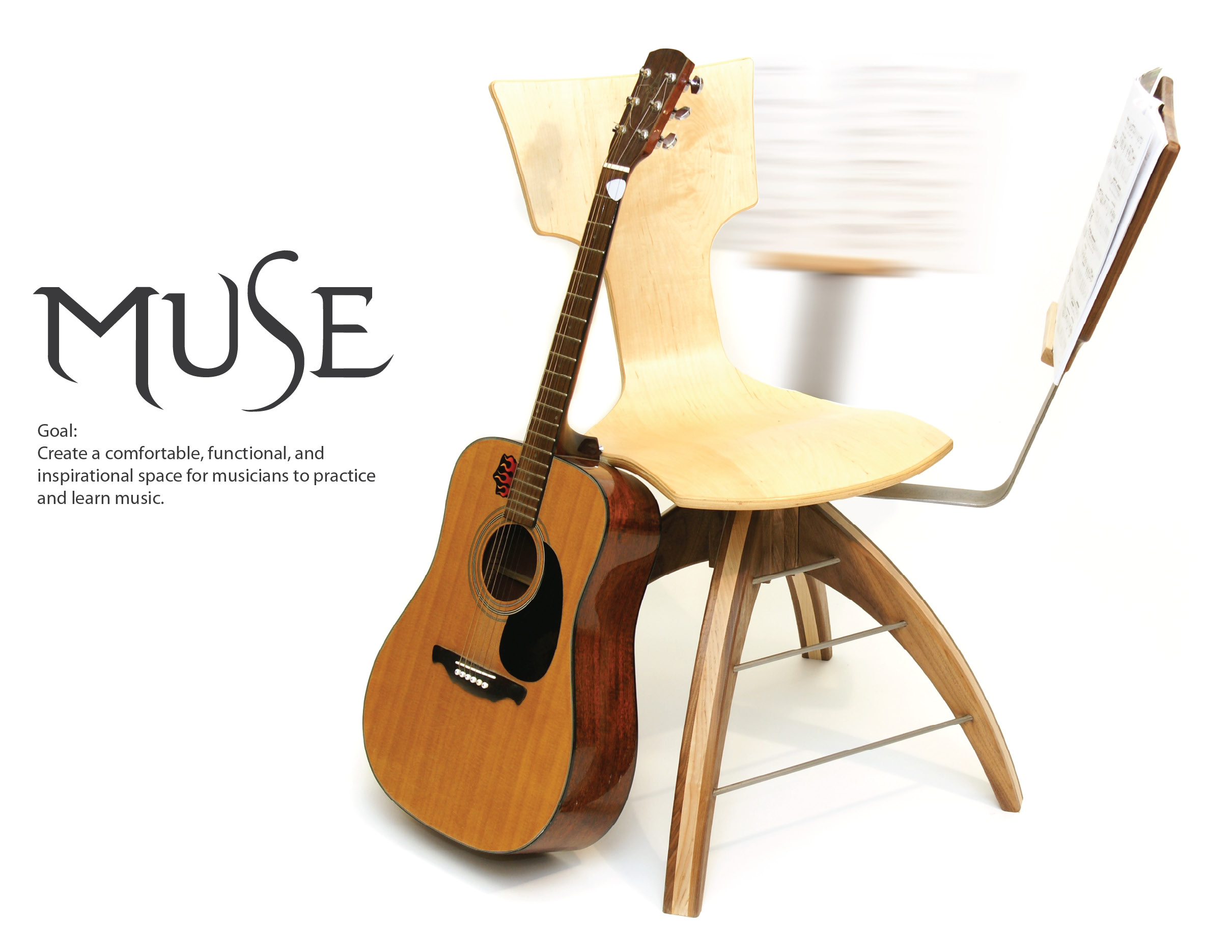 guitar playing chair amish 3 in 1 highchair muse inspire your creativity by corey harris at coroflot