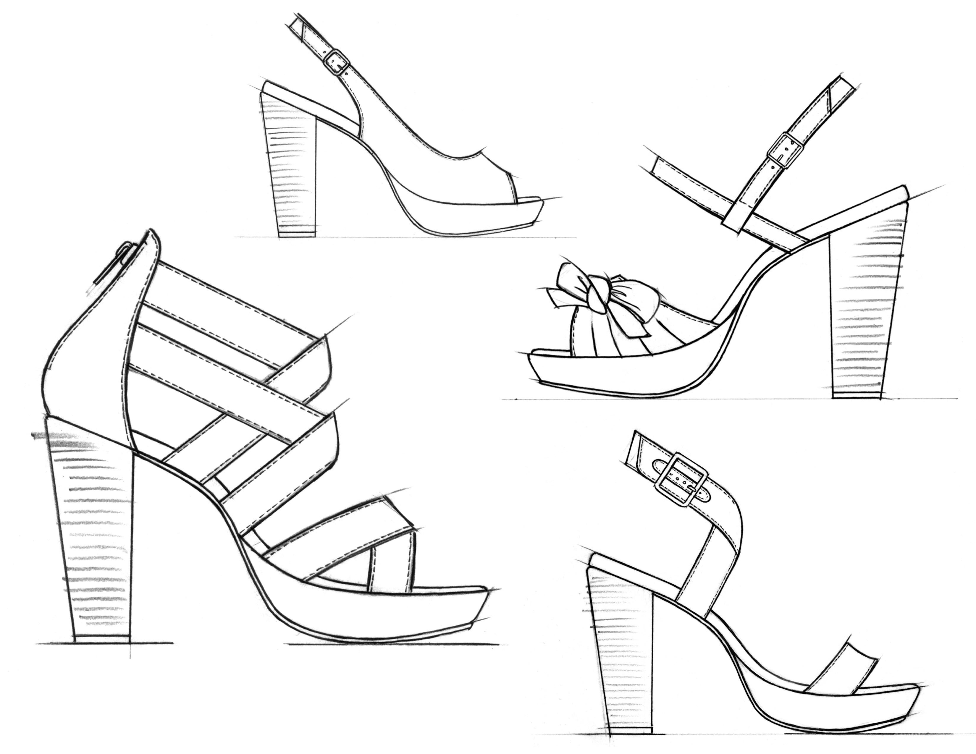 Footwear Sketches By Jason Clifton At Coroflot