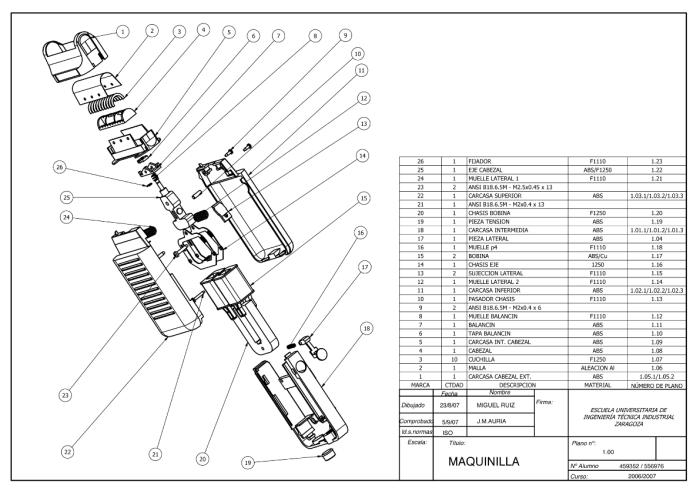 Technical Drawings & 3D Mechanical design by Miguel Ruiz