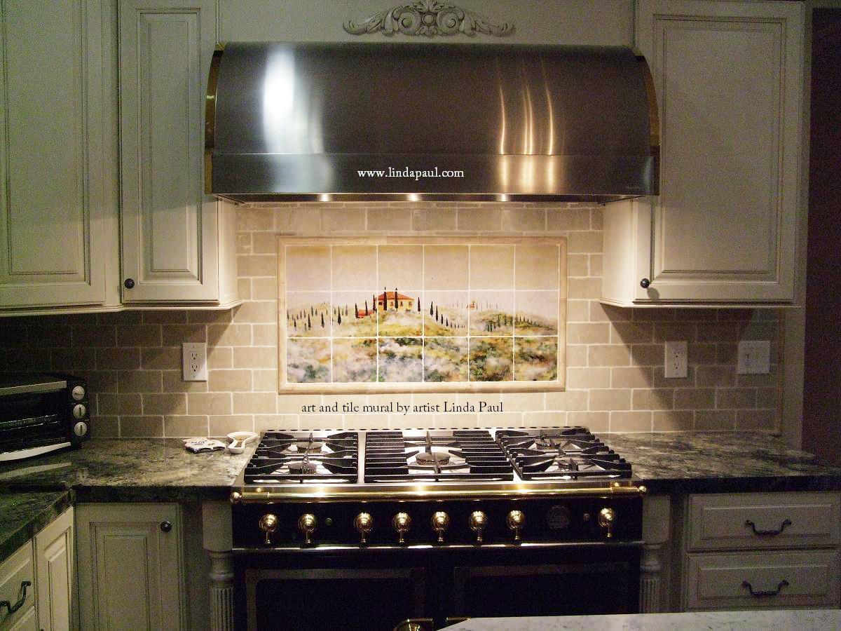 kitchen backsplash murals corner hutch tile by linda paul studio