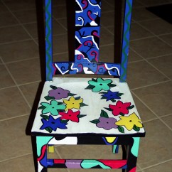 Hand Painted Wooden Chairs Chair Cover Rentals Raleigh Nc Personal Artwork By Carrie Butler At