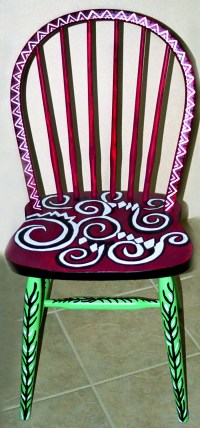 Personal Artwork - Painted Chairs by Carrie Butler at ...