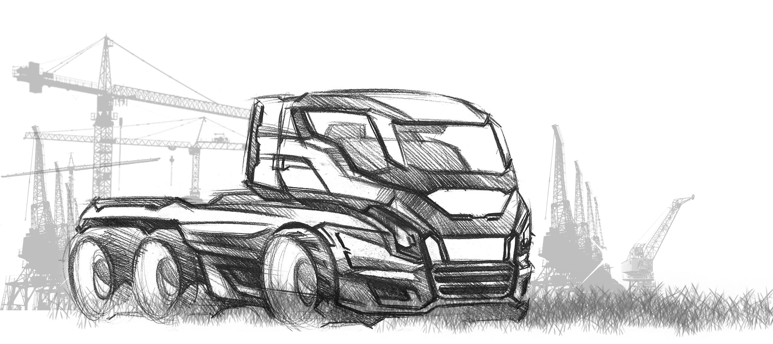 Concept Truck Sketch By Zion Wu At Coroflot