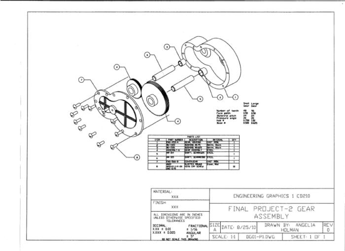 Gear Assembly-AutoCAD by Angelia Watson at Coroflot.com