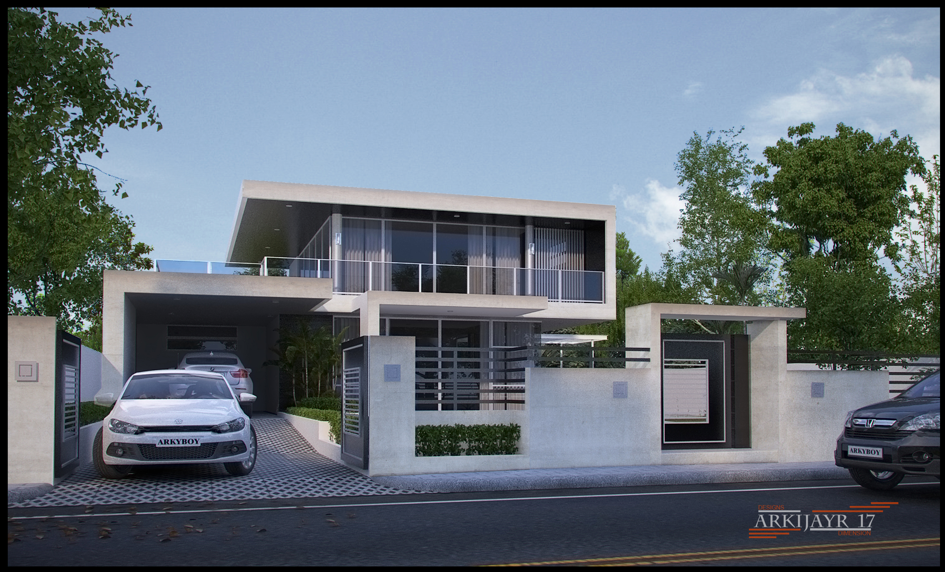 The Simple Modern House by Mayolo Briones at Coroflotcom