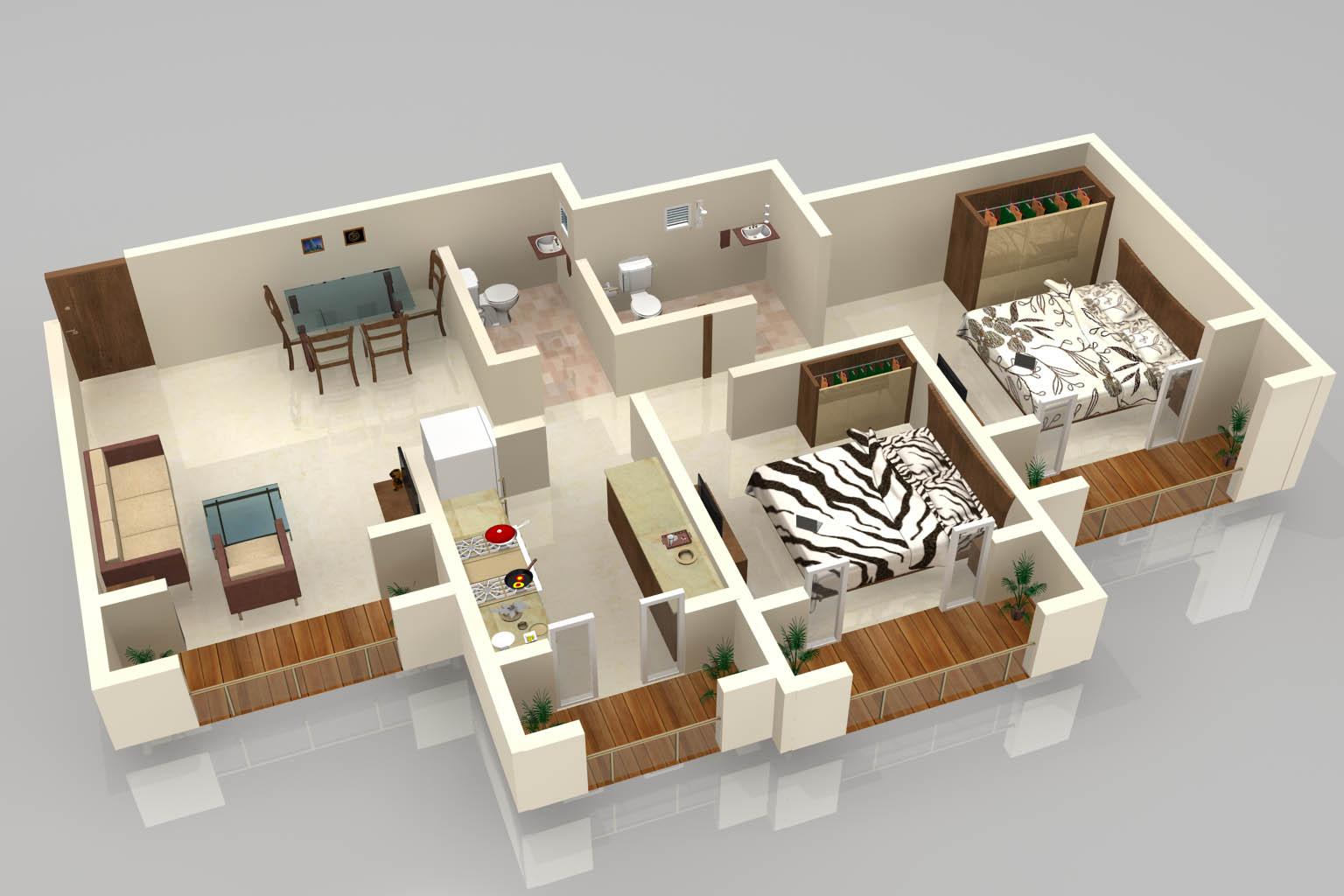 3D Floor Plan Of A Celeb Mansion  Modern House