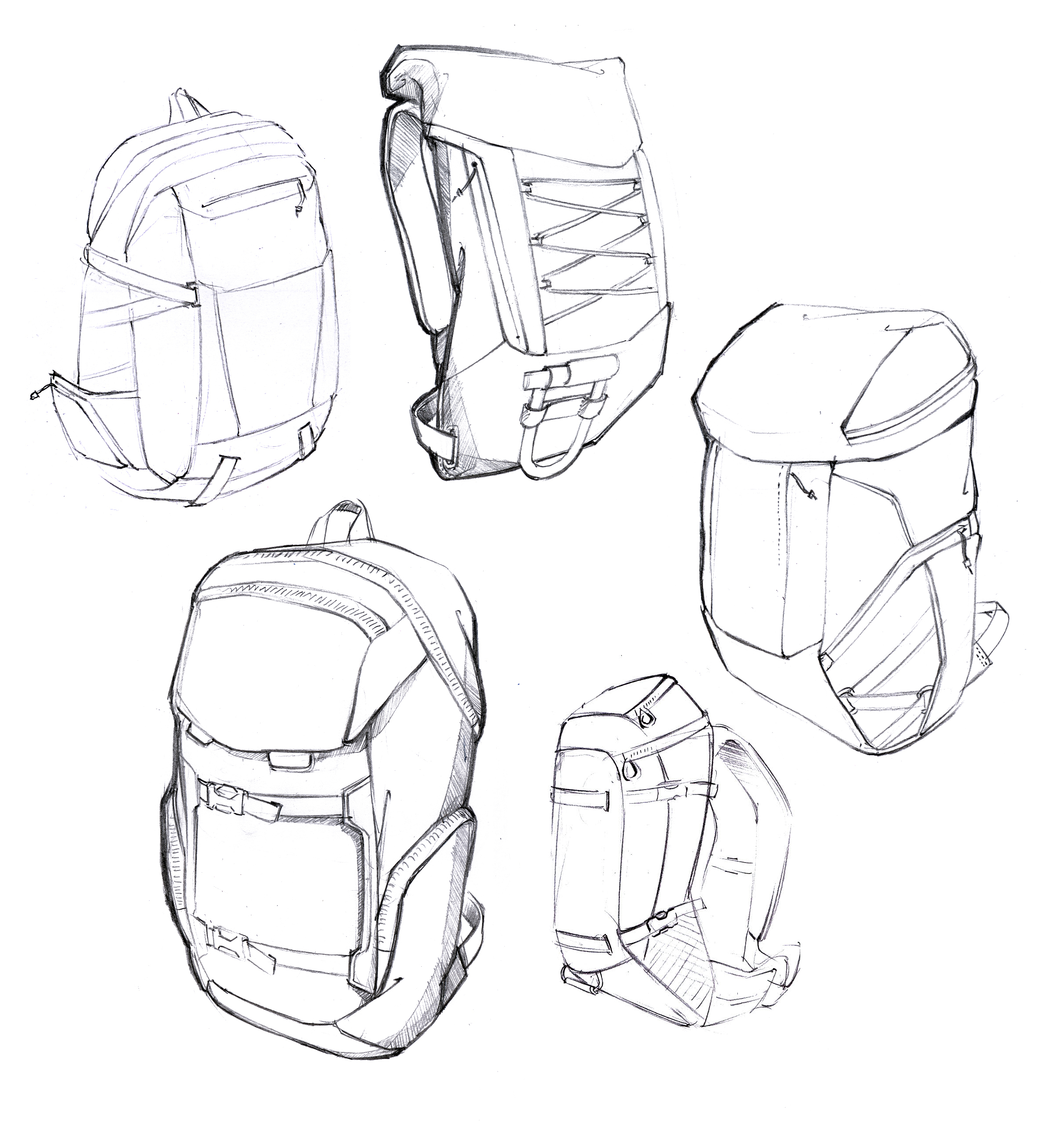 Backpack Sketches By Daniel Valsesia At Coroflot