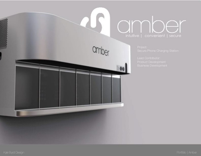 Amber Secure Phone Charging Stations by Kyle Byrd at