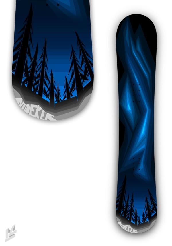 Snowboard Graphic Design