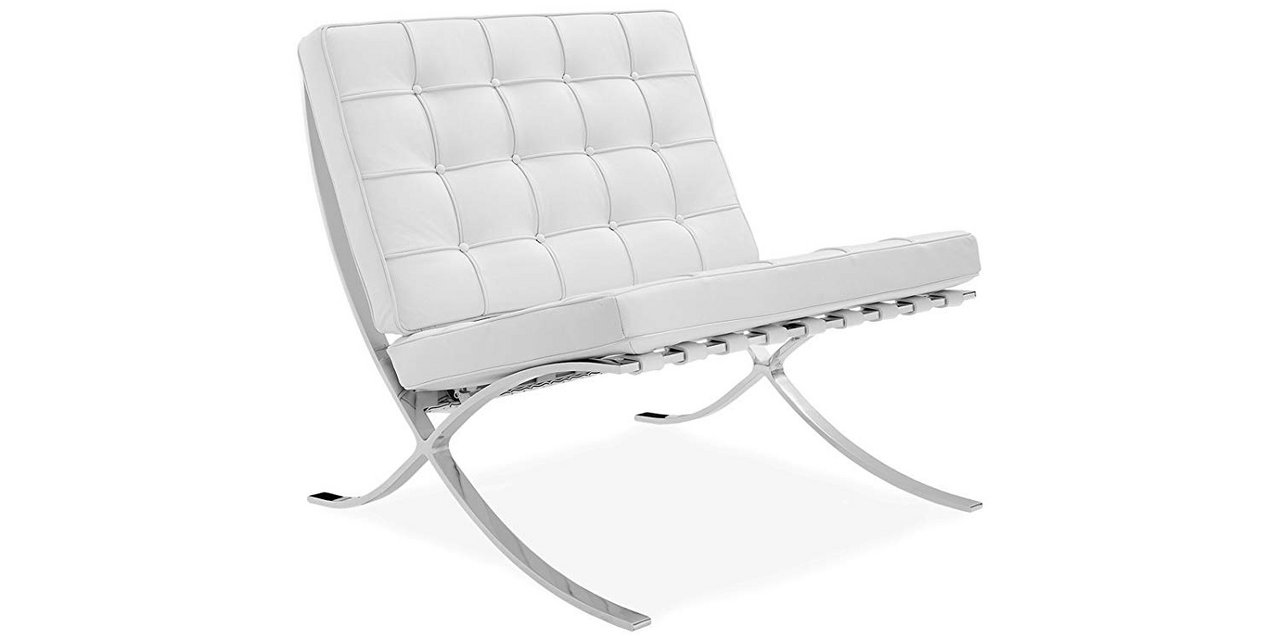 Barcelona Chairs For Sale 2 White Barcelona Chairs 100 Italian Selected Natural Leather