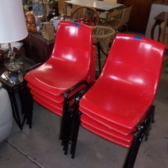 Red Chairs For Sale Counter Height Office Set Of Eight Stackable Furniture Home By Owner
