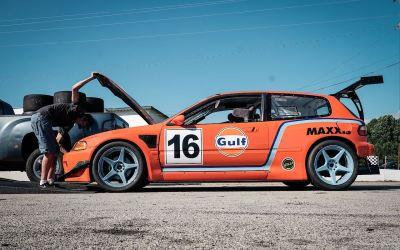 Honda Civic EG track car : Turbo B16