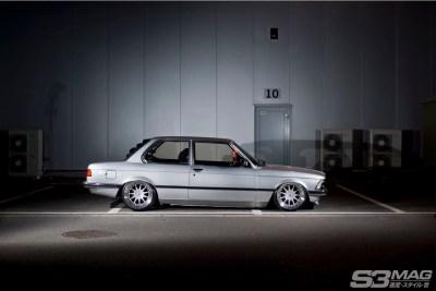 bagged E21 BMW