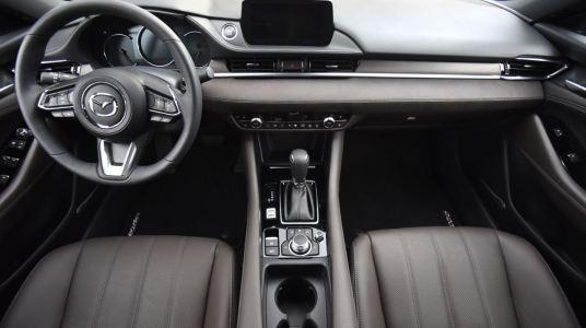 Mazda6 interior leather wood