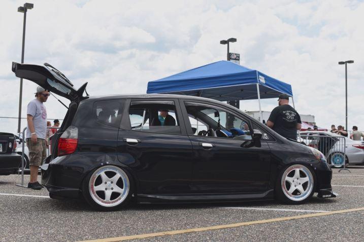 slammed Honda fit