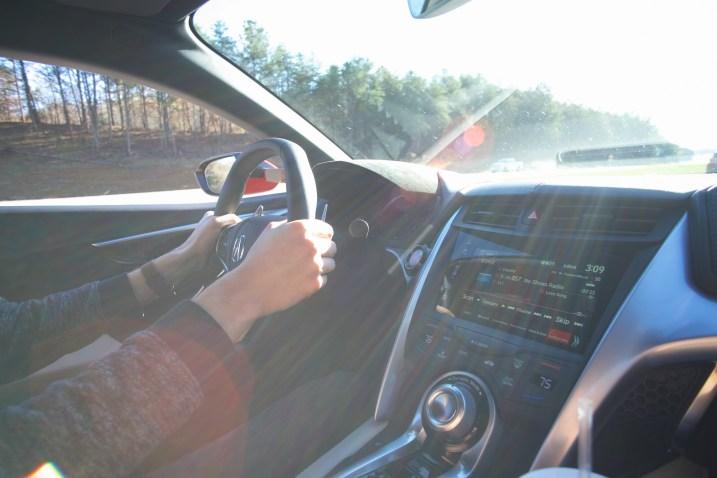 Acura NSX drive paddle shift