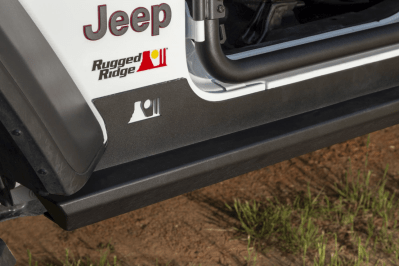 Rugged Ridge rock sliders for the 2018-present JL Jeep