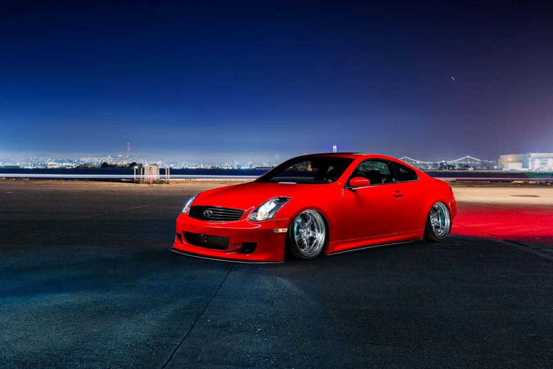 bagged G35 Coupe